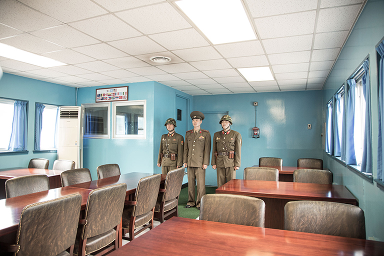 Non General and his friends pose for a photo in South Korea.